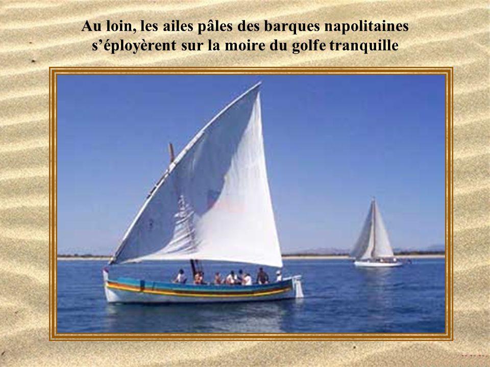 Au loin, les ailes pâles des barques napolitaines s'éployèrent sur la moire du golfe tranquille