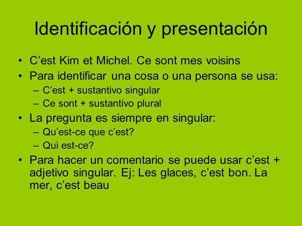 Identificación y presentación C'est Kim et Michel.