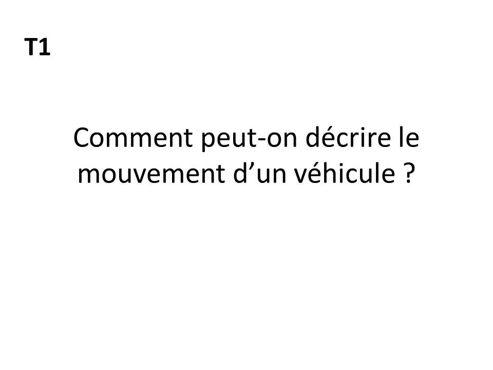 Comment peut-on décrire le mouvement d'un véhicule ? T1