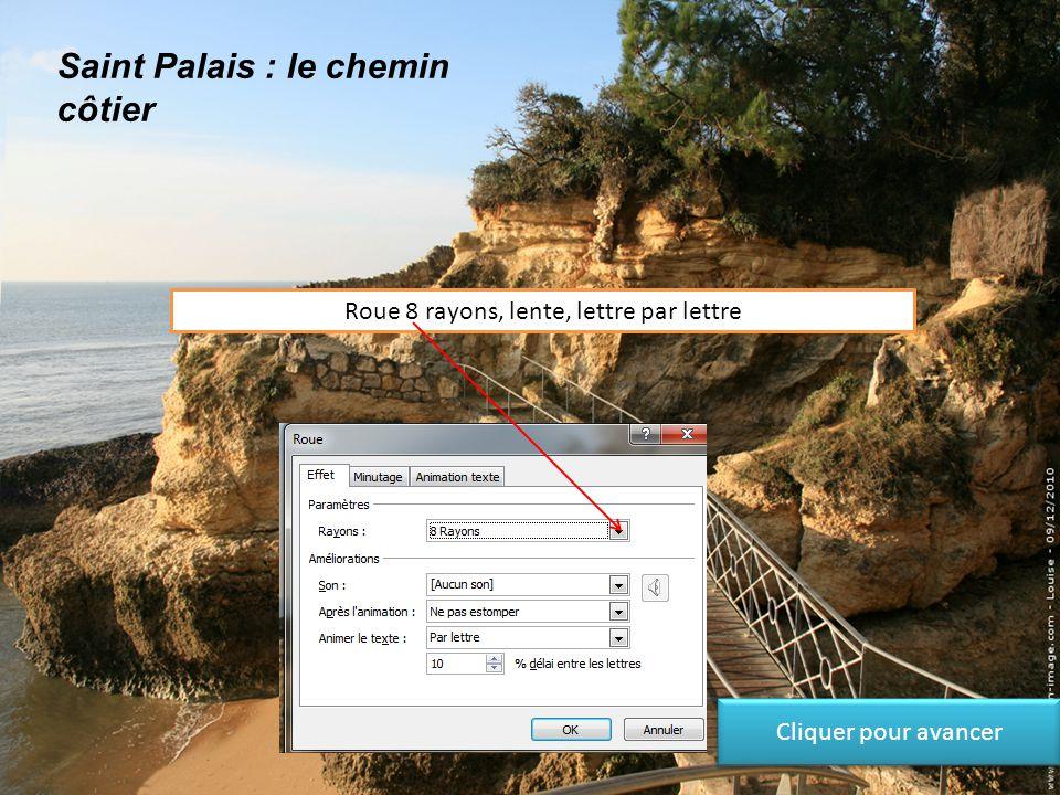 Saint Palais : le chemin côtier Roue, lente Cliquer pour avancer