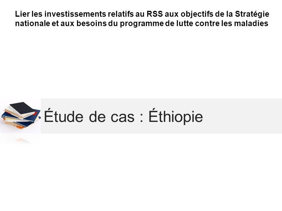 Étude de cas : Éthiopie Lier les investissements relatifs au RSS aux objectifs de la Stratégie nationale et aux besoins du programme de lutte contre l