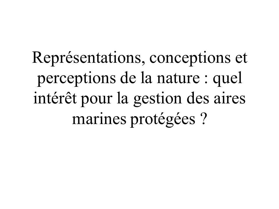 Représentations, conceptions et perceptions de la nature : quel intérêt pour la gestion des aires marines protégées ?
