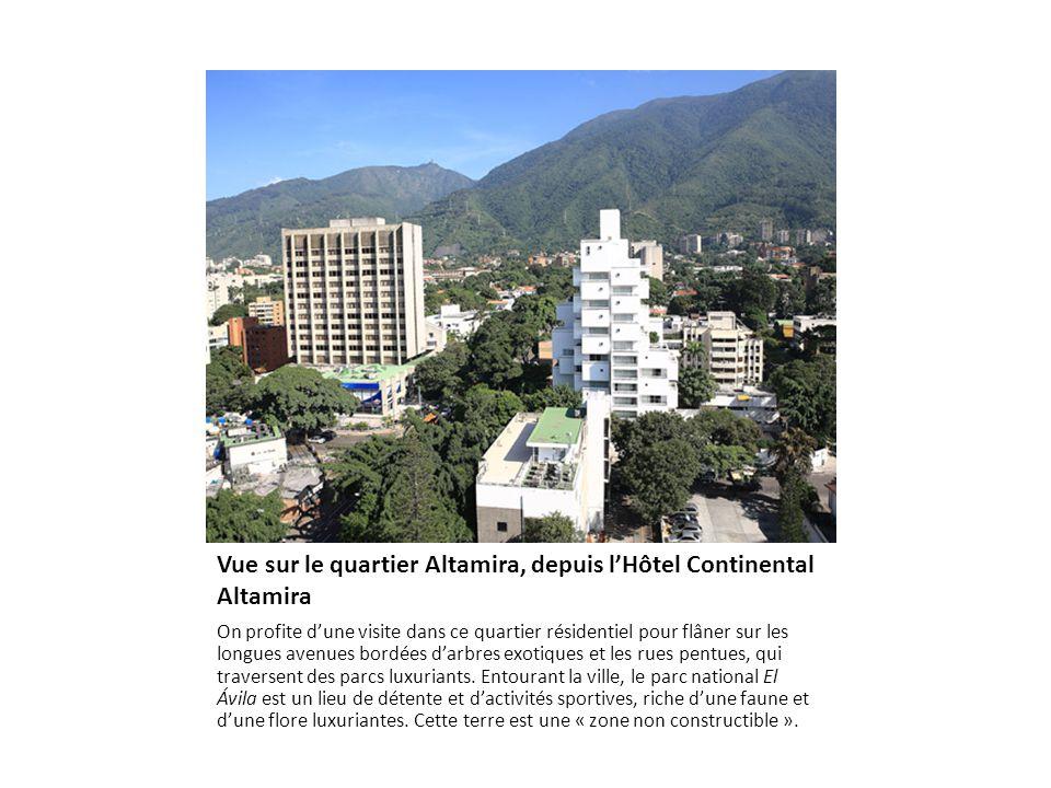 Vue sur Caracas, depuis le téléphérique qui grimpe jusqu'à l'Ávila La ville de sept millions d'habitants s'étire au creux d'une étroite vallée cernée par la Cordillera della Costa, au pied du mont Ávila (2765 mètres).