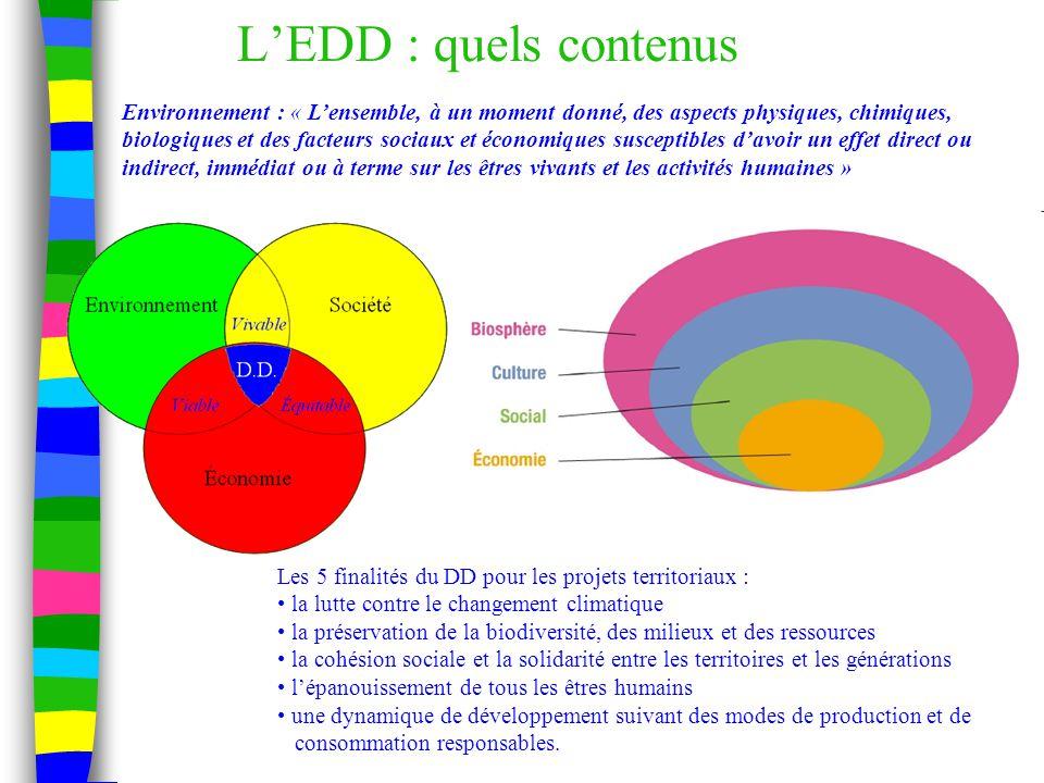 Se former, s'informer, valoriser ses actions n Connaître les interlocuteurs EDD n Les publications académiques n Le PAF EDD n Le portail académique EDD : http://crdp.ac-bordeaux.fr/edd/ http://crdp.ac-bordeaux.fr/edd/ n Le pôle national de ressources EDD : http://www.sceren.fr/edd http://www.sceren.fr/edd