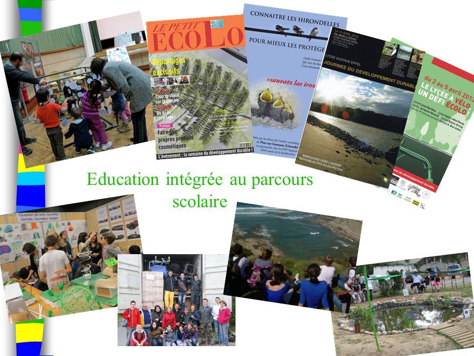 Education intégrée au parcours scolaire
