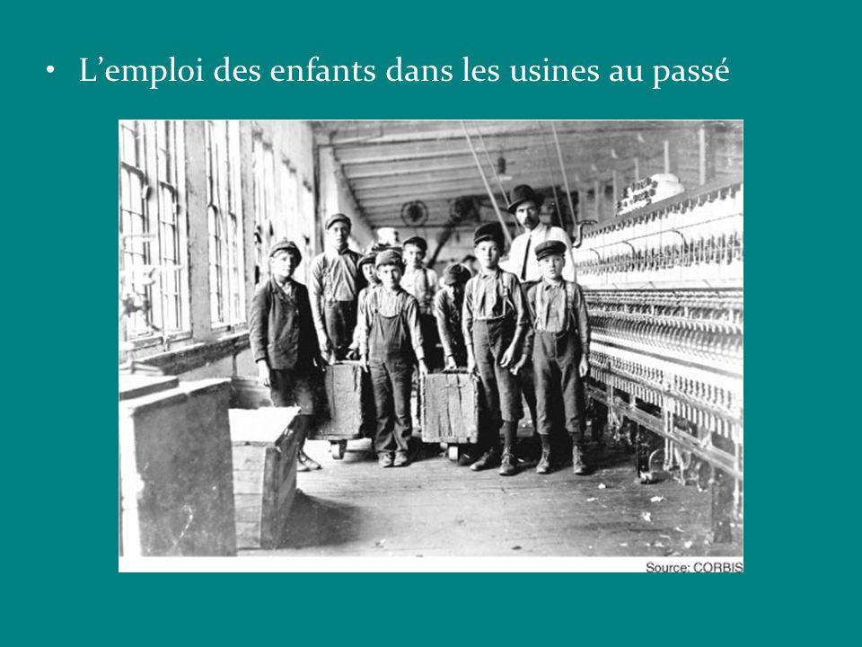 L'emploi des enfants dans les usines au passé