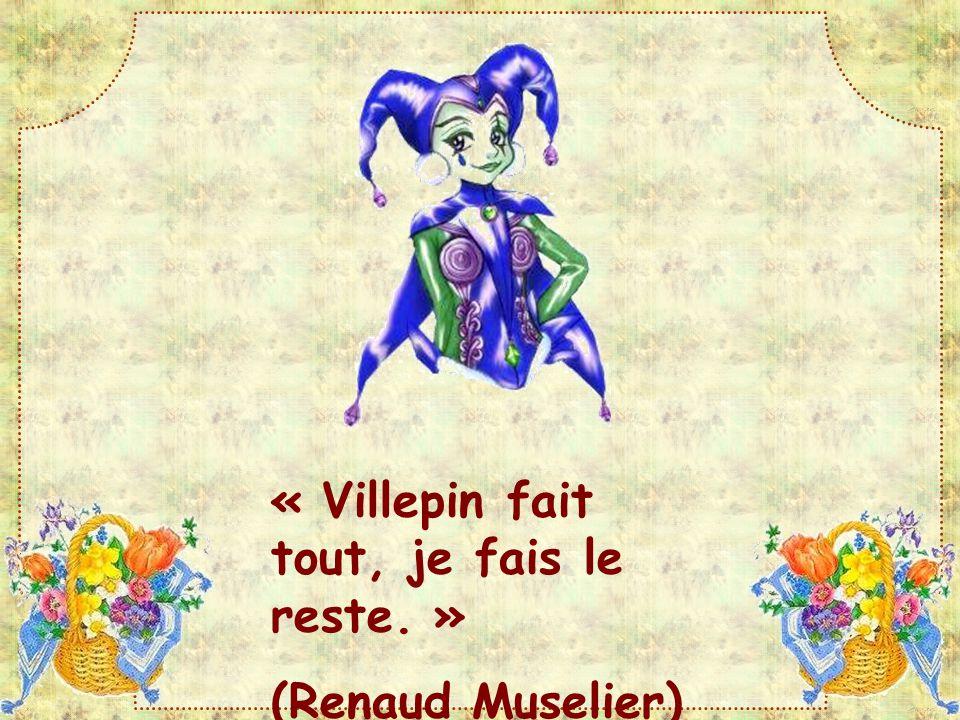 « Villepin fait tout, je fais le reste. » (Renaud Muselier)
