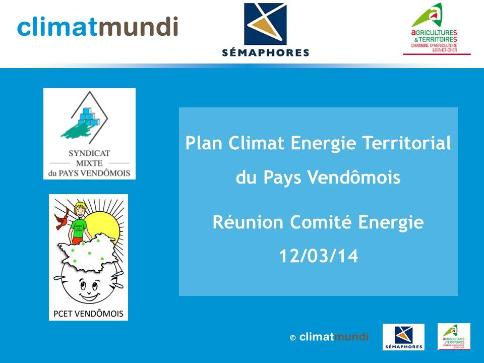 2 PCET pays Vendômois – Réunion Comité Energie de 12 mars 2014 Sommaire 1.Où en sommes-nous .