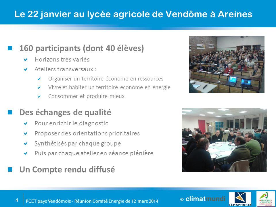 5 PCET pays Vendômois – Réunion Comité Energie de 12 mars 2014 Le Plan Climat : un moteur de projets pour le territoire