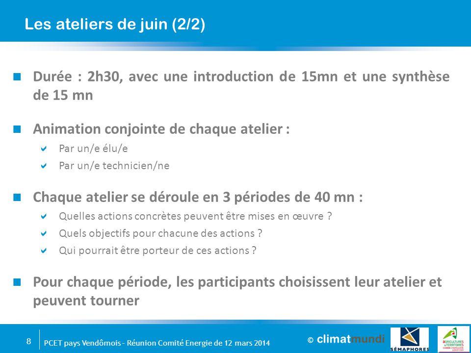 9 PCET pays Vendômois – Réunion Comité Energie de 12 mars 2014 Merci de votre attention Jean-Luc Manceau CLIMAT MUNDI Directeur de projet 01 44 55 38 53 jean-luc.manceau@climatmundi.fr
