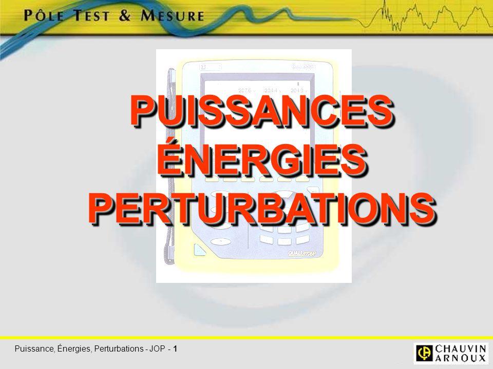 Puissance, Énergies, Perturbations - JOP - 1 PUISSANCESÉNERGIESPERTURBATIONSPUISSANCESÉNERGIESPERTURBATIONS