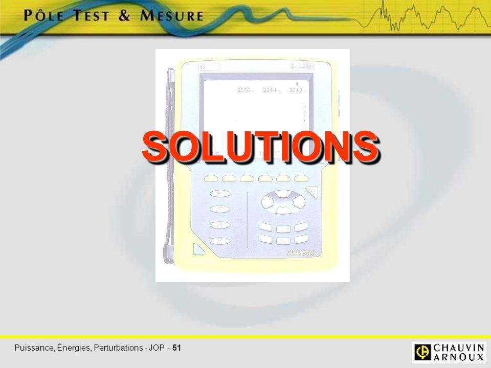 Puissance, Énergies, Perturbations - JOP - 51 SOLUTIONSSOLUTIONS