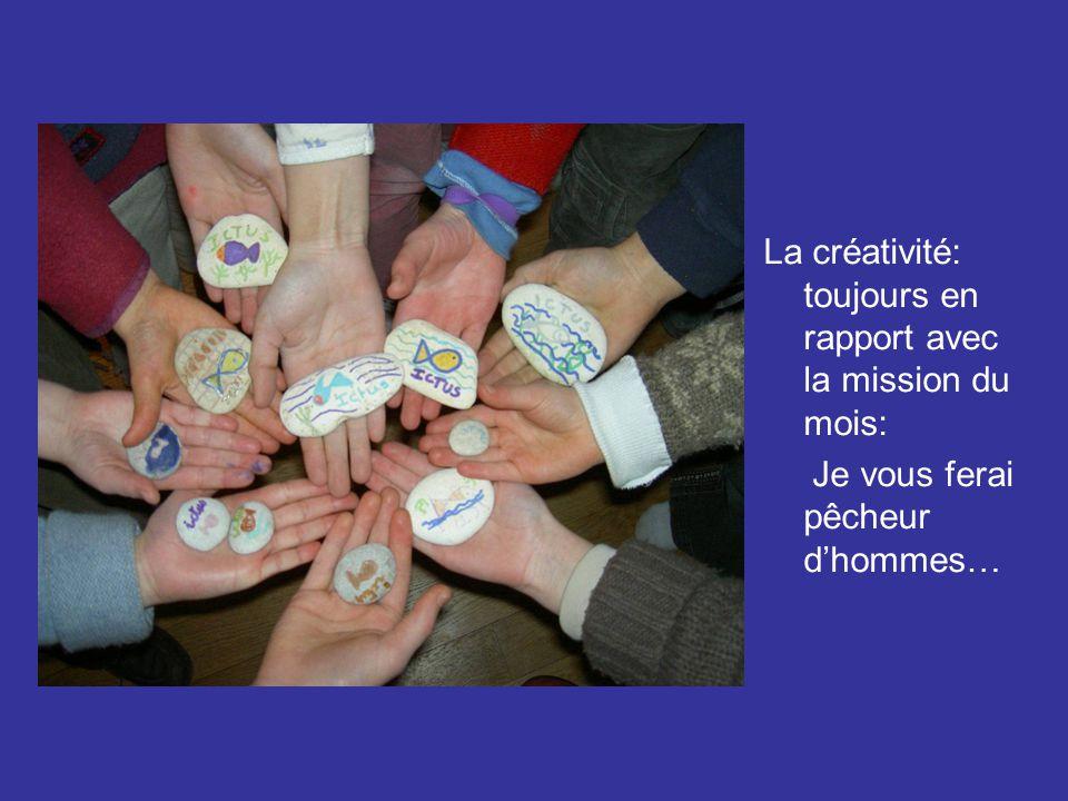 L'équipe de St Germain et heureuse de vous montrer leur porte-clé poisson: mémo pour la mission du mois!!