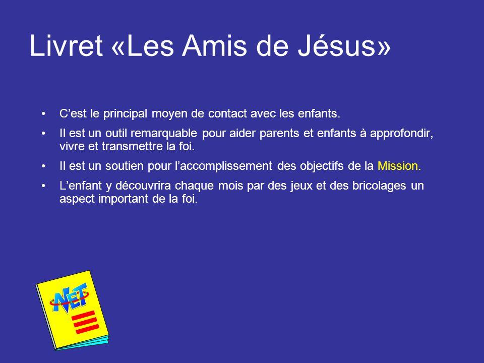 Le fameux colis mission Chaque mois l'enfant reçoit un colis mission dans lequel il trouve: 1.Une revue « Amis de Jésus » de 8 pages 2.Un calendrier 3