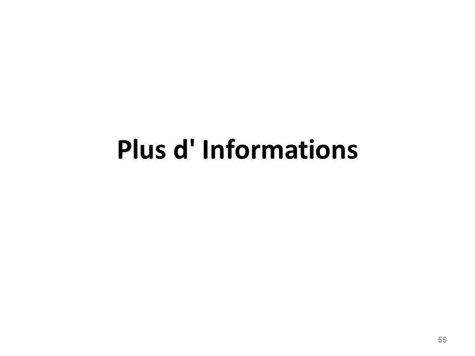 Plus d Informations 55
