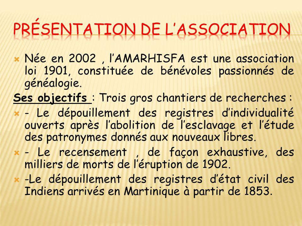  Née en 2002, l'AMARHISFA est une association loi 1901, constituée de bénévoles passionnés de généalogie. Ses objectifs : Trois gros chantiers de rec