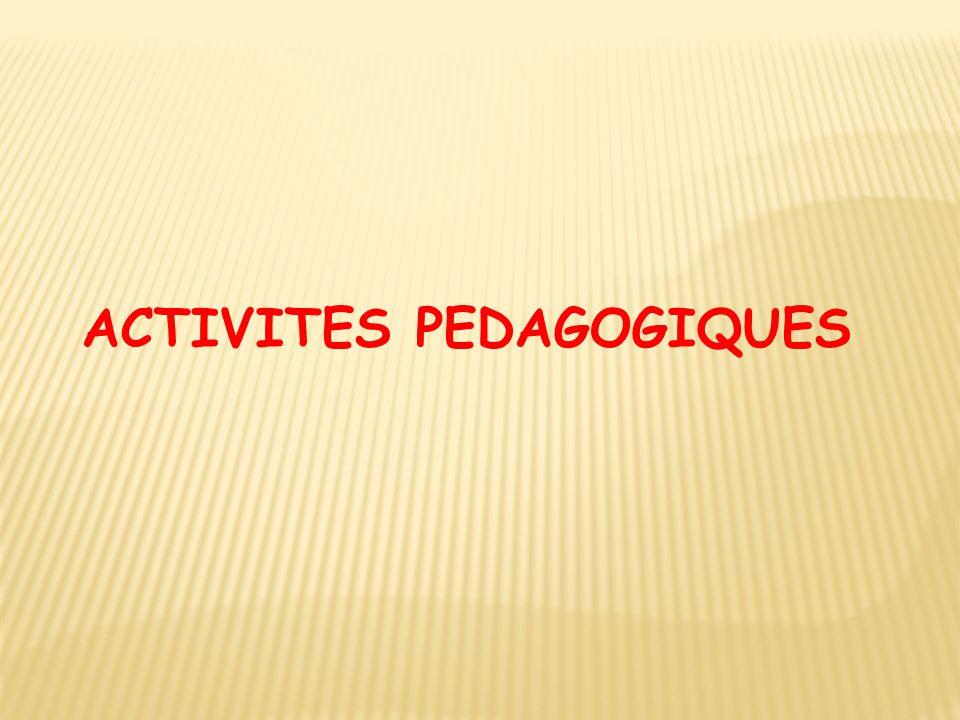 ACTIVITES PEDAGOGIQUES