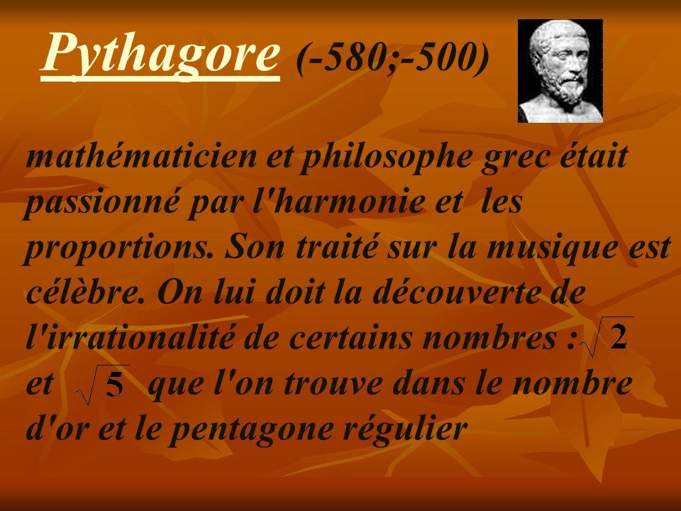Pythagore (- 580;-500)