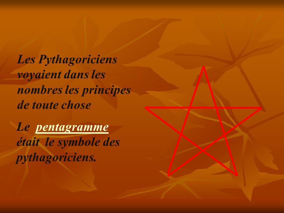 mathématicien et philosophe grec était passionné par l harmonie et les proportions.