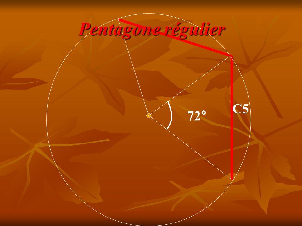 C5 72° Pentagone régulier