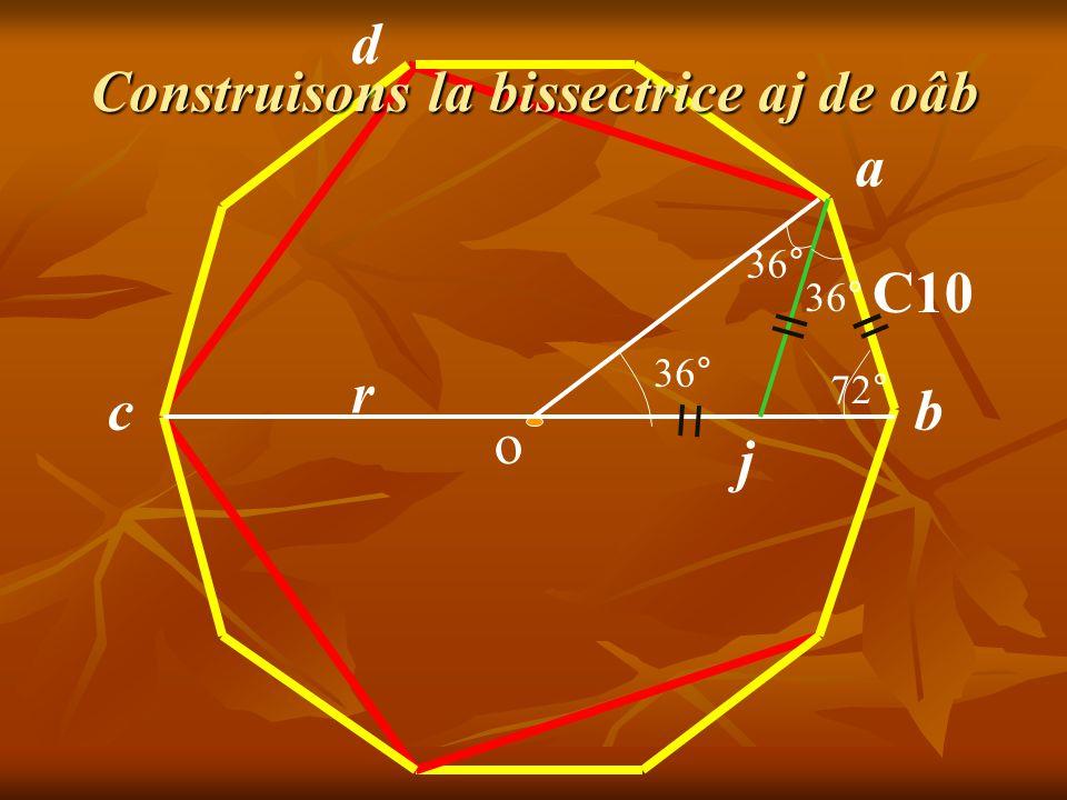 a b C10 36° 72° o j r d c