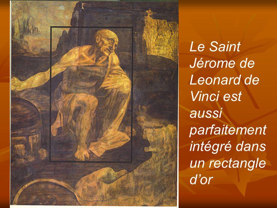 Léonard de Vinci, philosophe humaniste de la renaissance, comme plusieurs autres peintres célèbres a utilisé la proportion d'Or dans ses toiles Le visage de sa célèbre Joconde est inscrit dans un rectangle d'or