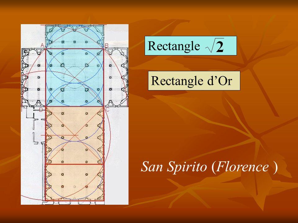 Un dessin de Francesco Giorgio Martini associe la forme du corps humain et le plan d une église le rapport des dimensions est analogue à celui de San Spirito à Florence conçue par Brunelleschi (1377-1446)