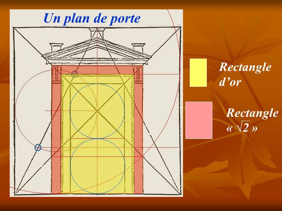 le nombre d'or y joue un grand rôle ; le vestibule a les proportions de la chambre funéraire de la pyramide de Cheops ) Château de Thoiry ( Philibert de L'Orme )