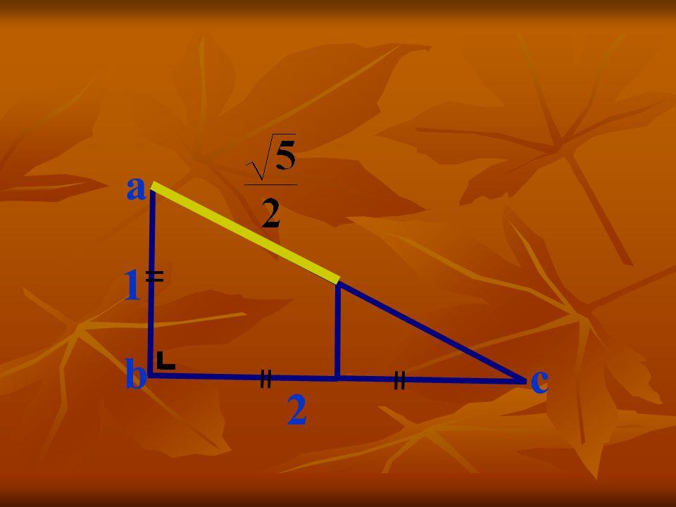 Traçons la parallèle à [ab] par le milieu de [ bc] … c 1 2 a b