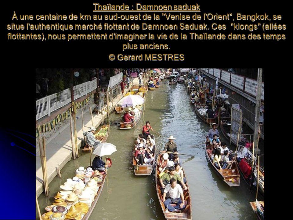 Thaïlande : Damnoen saduak À une centaine de km au sud-ouest de la