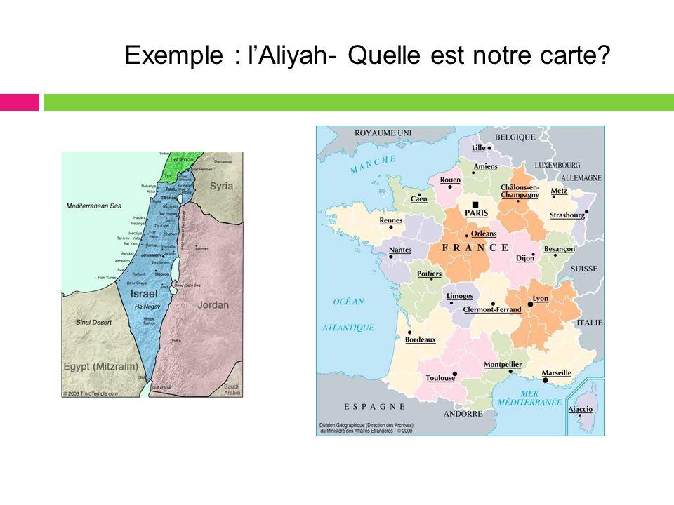 Exemple : l'Aliyah- Quelle est notre carte?