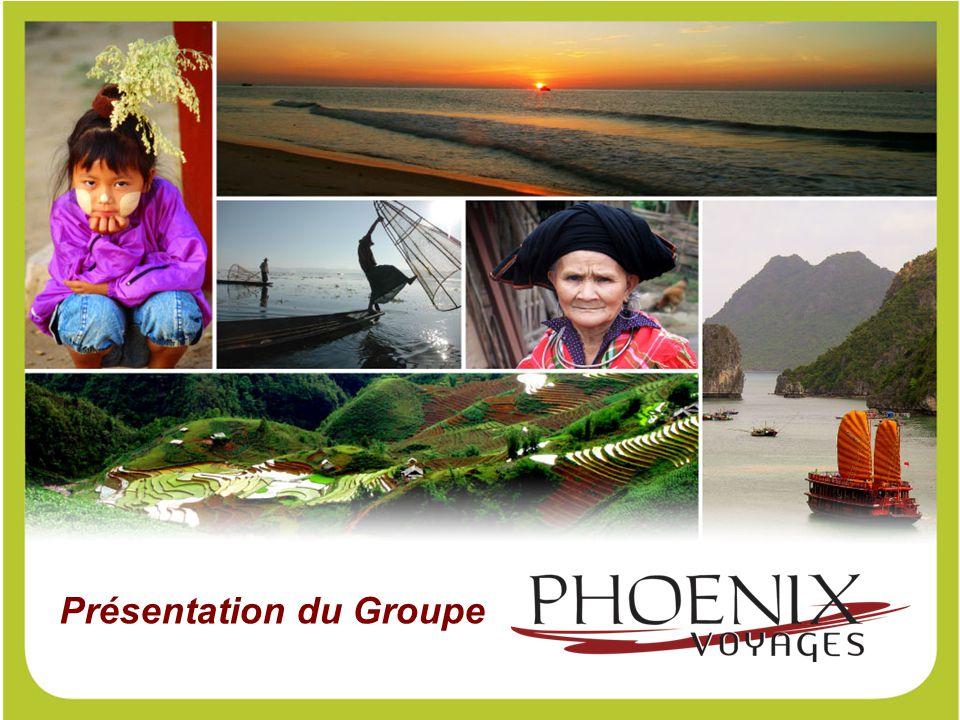 Agence de voyages réceptive, le Groupe Phoenix Voyages, créé en 1999, est implanté localement et propose des offres au : - Vietnam - Cambodge - Laos - Myanmar - et en Corée du Nord.