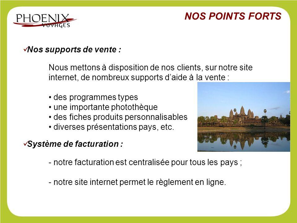 Nos supports de vente : Nous mettons à disposition de nos clients, sur notre site internet, de nombreux supports d'aide à la vente : des programmes ty