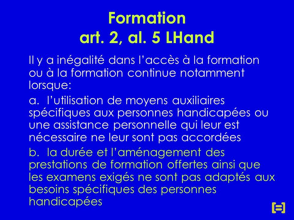 Formation art. 2, al.