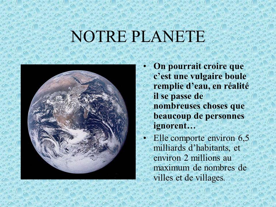 1.Notre planète1.Notre planète 2.L'atmosphère et sont rôle2.L'atmosphère et sont rôle 3.Les Biomes3.Les Biomes