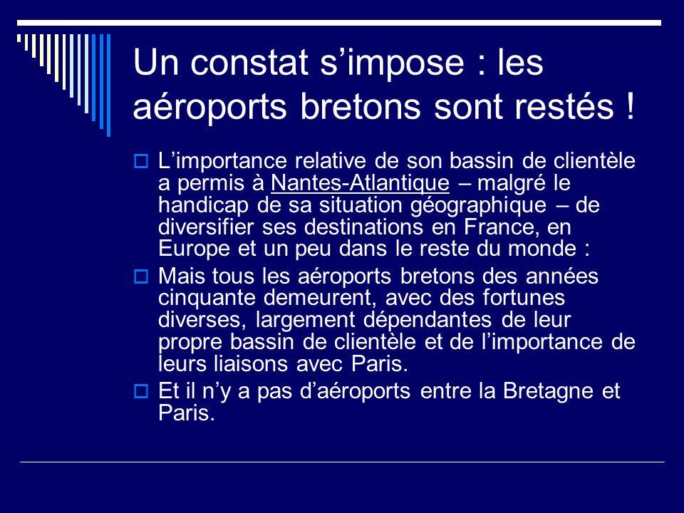 Un constat s'impose : les aéroports bretons sont restés .