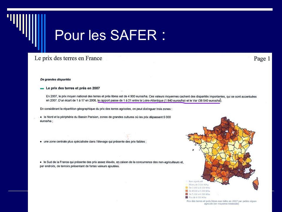 Pour les SAFER :