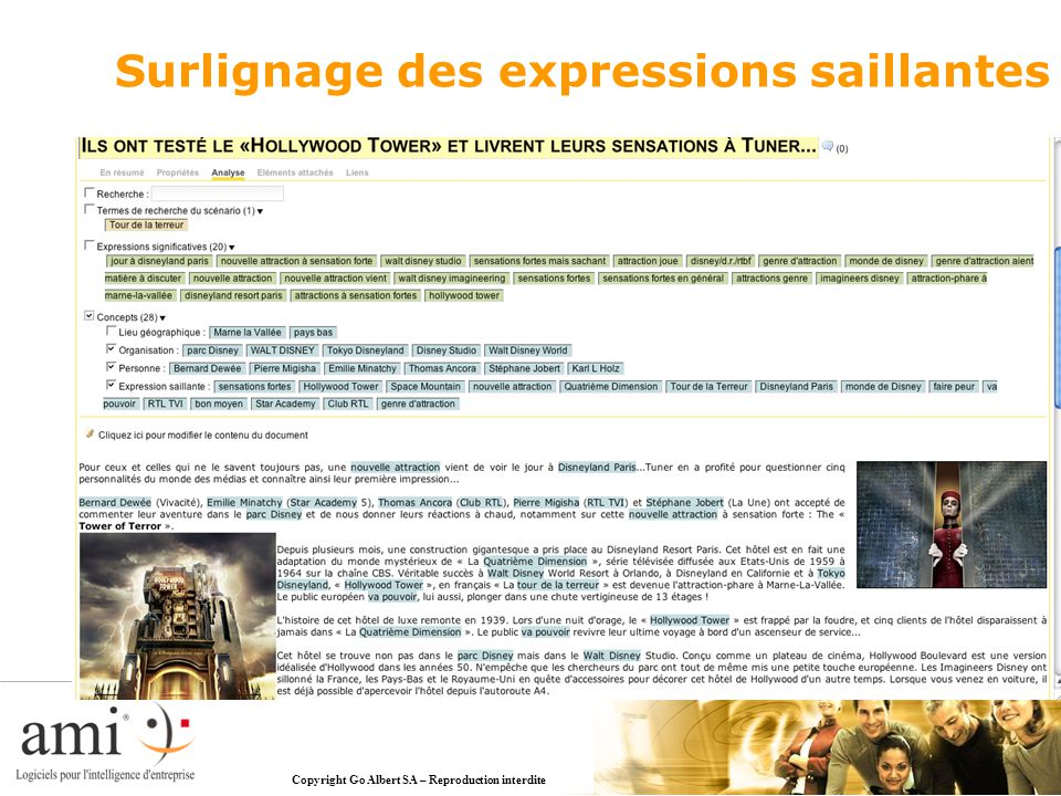Copyright Go Albert SA – Reproduction interdite Surlignage des expressions saillantes