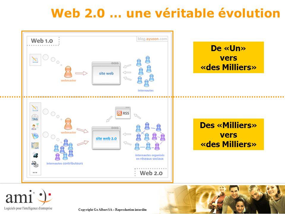 De «Un» vers «des Milliers» Des «Milliers» vers «des Milliers» Web 2.0 … une véritable évolution