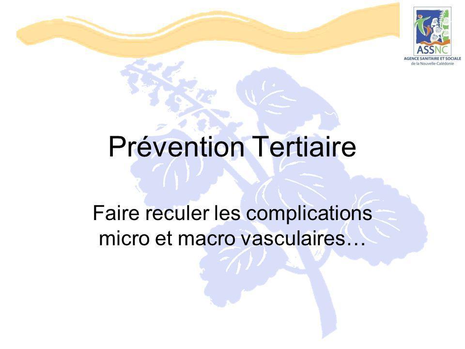 Prévention Tertiaire Faire reculer les complications micro et macro vasculaires…