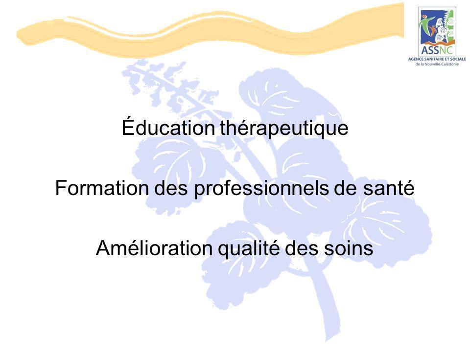 Éducation thérapeutique Formation des professionnels de santé Amélioration qualité des soins
