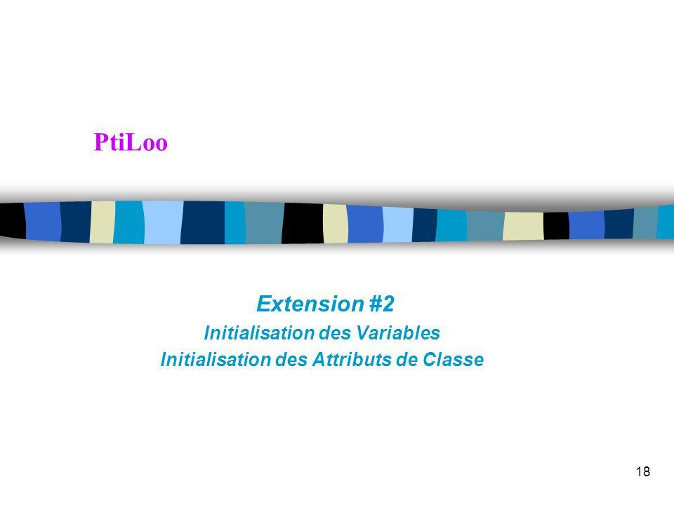 Transparent 17 Extensions PtiLoo: opérateur ! et fonction Xterne Ext#1Sol 2 factorielle ! sur exp. entières yacc(I) expression  + … '!' { } lex entit
