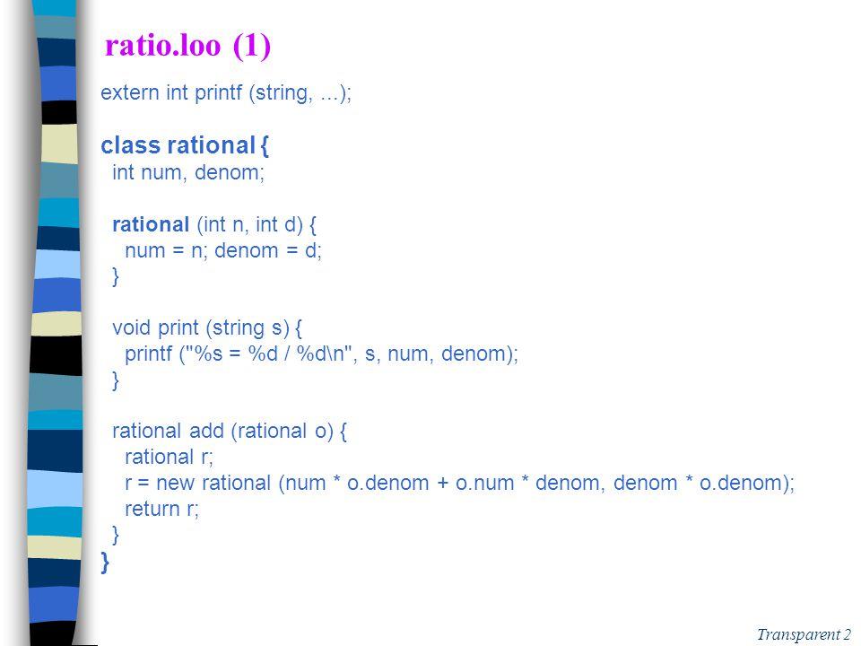 1 PtiLoo Compléments de Cours pour réaliser les Extensions version 20/08/2014 16:51 Ajout à faire pour 2010 - version 20/08/2014 16:51 n animation pour passe1(AST) et passe 2(resolve-name) avec:  double déclaration (err passe 1)  non déclaration ou erreur de type (err passe 2) n comparaison entre:  instruction et exp (AST only)  bloc (AST + portée)  declaration (AST + TS)  méthode, classe (AST + TS + portée)