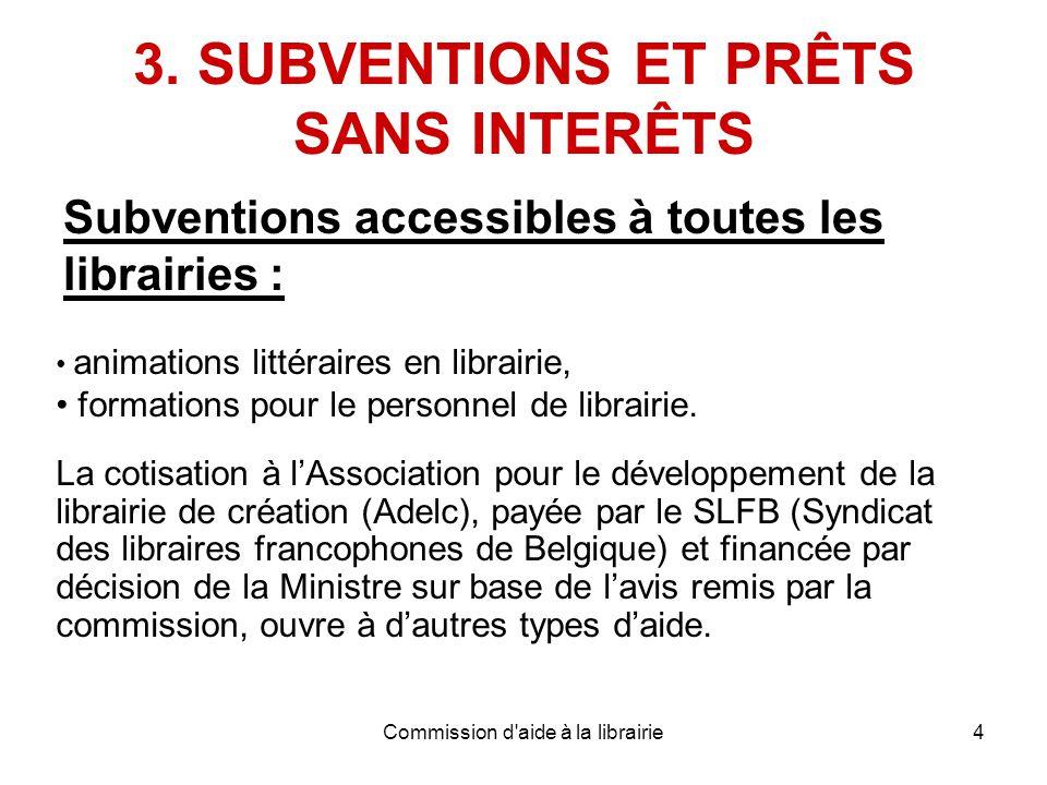 Commission d aide à la librairie4 3.