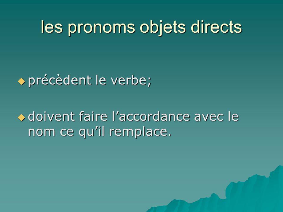 le pronom en  le pronom en remplace un objet introduit par de  ou par une une autre expression de quantité ( un/une, deux, trois, un peu de, beaucoup de, assez de...)