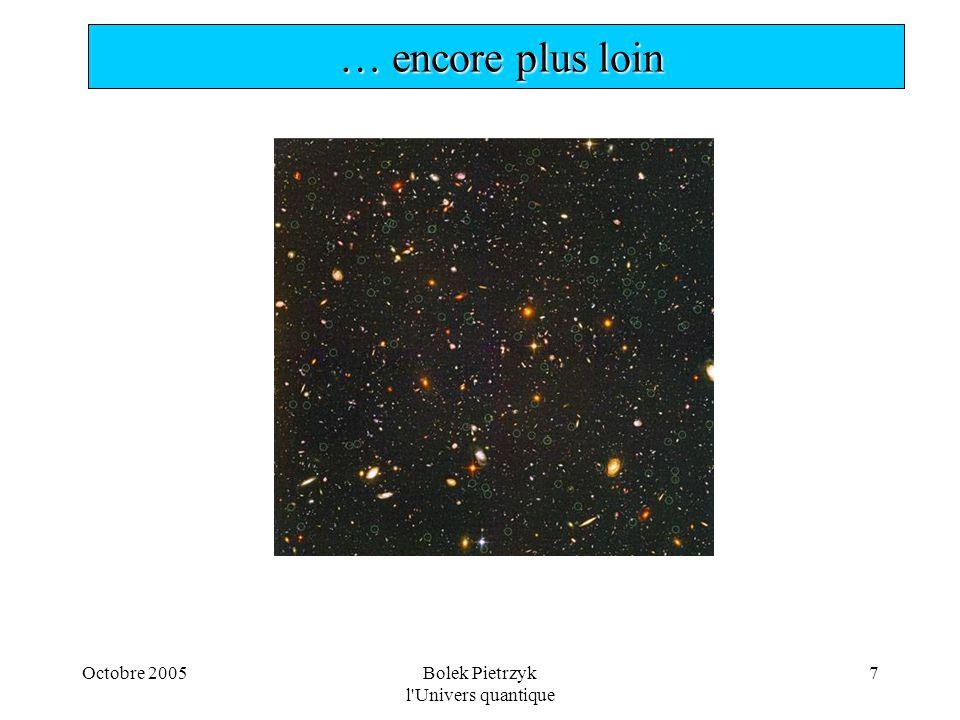 Octobre 2005Bolek Pietrzyk l'Univers quantique 7  … encore plus loin