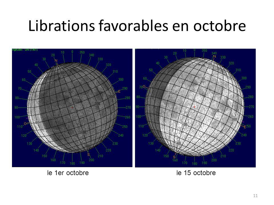 Librations favorables en octobre 11 Alhéna Lambda Gem le 1er octobrele 15 octobre