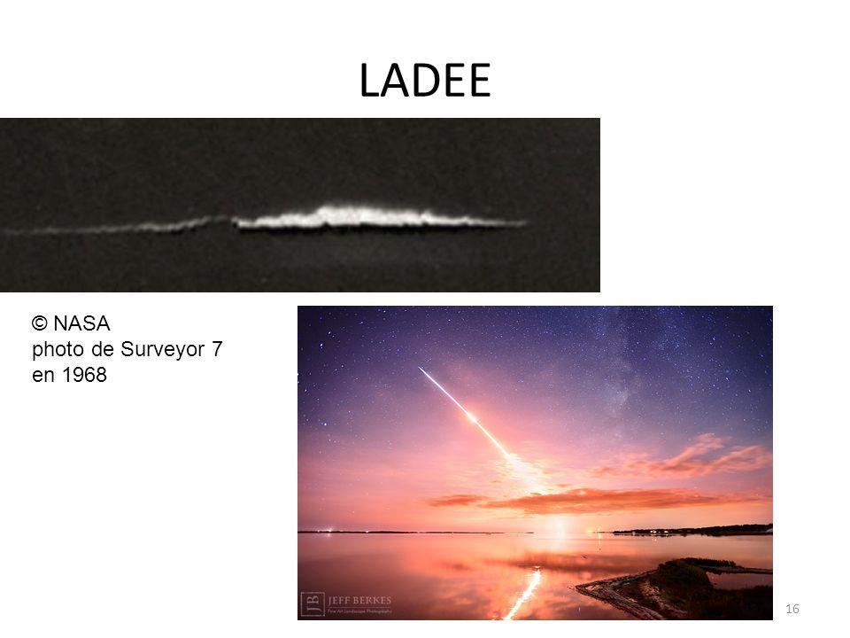 LADEE 16 © NASA photo de Surveyor 7 en 1968