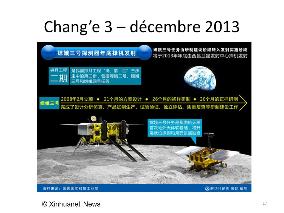 Chang'e 3 – décembre 2013 17 © Xinhuanet News