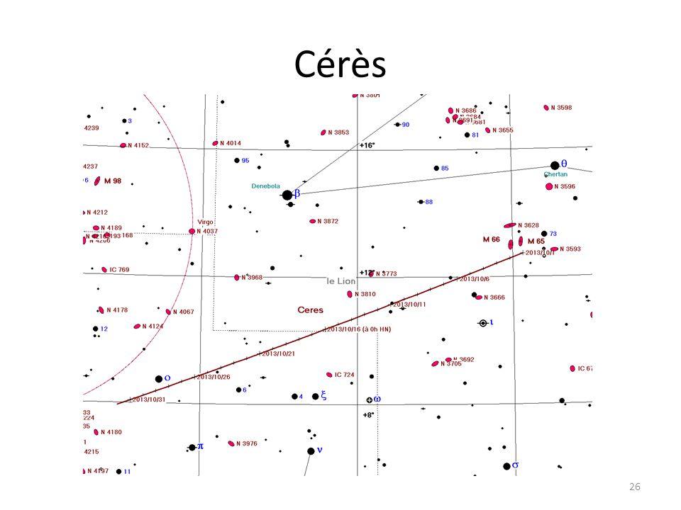 Cérès 26 Dzêta Tau M 1 Cérès